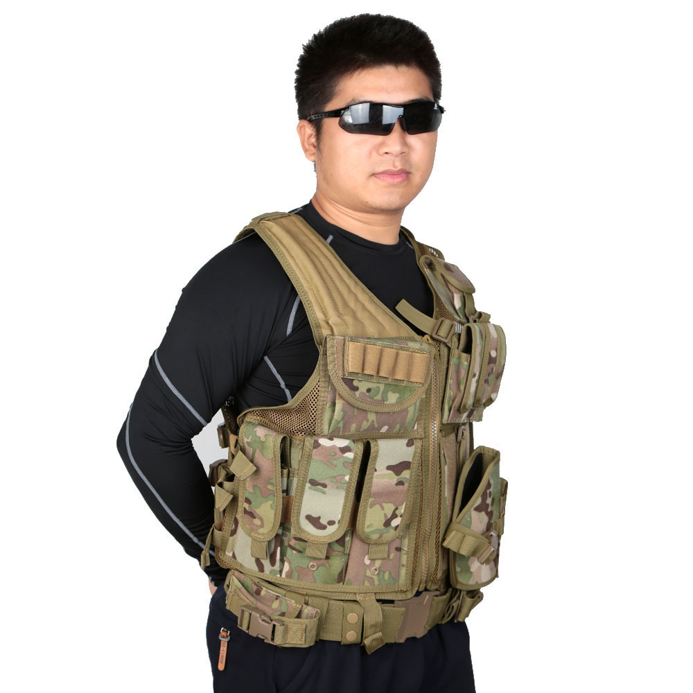 4 Colors Outdoor Military Tactical Army Polyester Airsoft War Game Hunting Vest for Camping Hiking