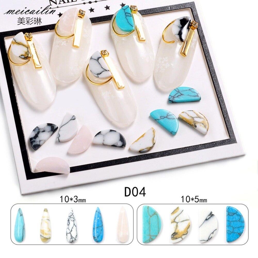 10 Unids / lote Japonés Nuevo Llega 3 * 10mm Rectángulo de Piedra - Arte de uñas