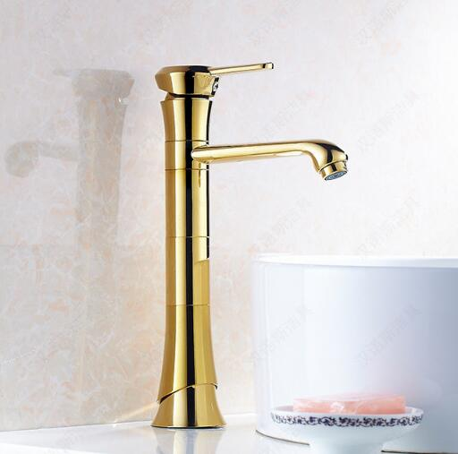 Free Shipping bathroom faucet Gold bathroom basin faucet ,Luxury basin sink faucet basin mixer High Quality Luxury water tap golden bathroom basin led faucet water