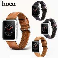 HOCO Genuine Leather Band Bracelet for Apple Watch Series 1/2/3/4 Watchband Replacement Strap IWatch 38mm 40mm 42mm 44mm