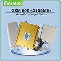 Dual band repetidor de Sinal 2G 3G EDGE/HSPA GSM 900 MHz UMTS 2100 MHz WCDMA Reforço de Sinal De Celular conjunto completo com Antena e Cabo