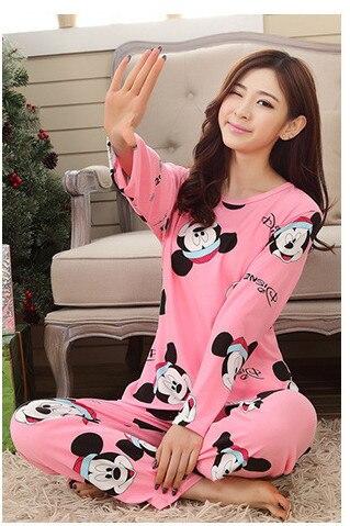 2019 New Women Cotton Pajamas Set Homewear Sleepwear Sets Soft Pajamas Women Nightgown Fashion Style Pajamas Sets New Arrivla