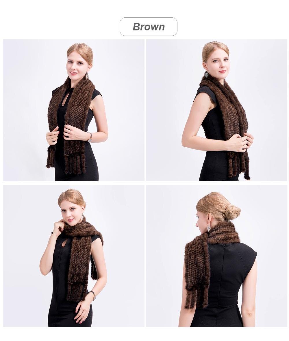 mink fur scarf color brown