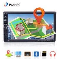 Podofo 2 din Car Radio GPS Navigation 7 Inch HD Touch Screen Bluetooth Autoradio Multimedia MP5 Player Video Stereo Radio 7018G