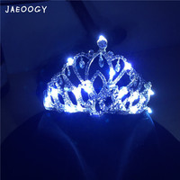Creative tailored luminous LED crown hat fluorescent wedding props stage performance noctilucent supplies
