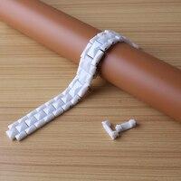Meiliqing Watchband Đồng Hồ Gốm strap bracelet Phù Hợp Với thương hiệu 15 mét 17 mét đen trắng đối với ban nhạc cổ tay men lady phụ kiện cuối đặc biệt