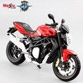 2016 Nueva Escala 1:12 modelos de MV Agusta Brutale 1090 R moto de carreras de mini coche diecast metal moto para niños juguetes