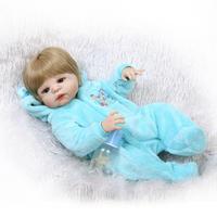 Npkcollection полный силиконовые возрождается куклы новорожденных популярной куклы Виктория наклеенного парик реалистичные мальчик детские игр