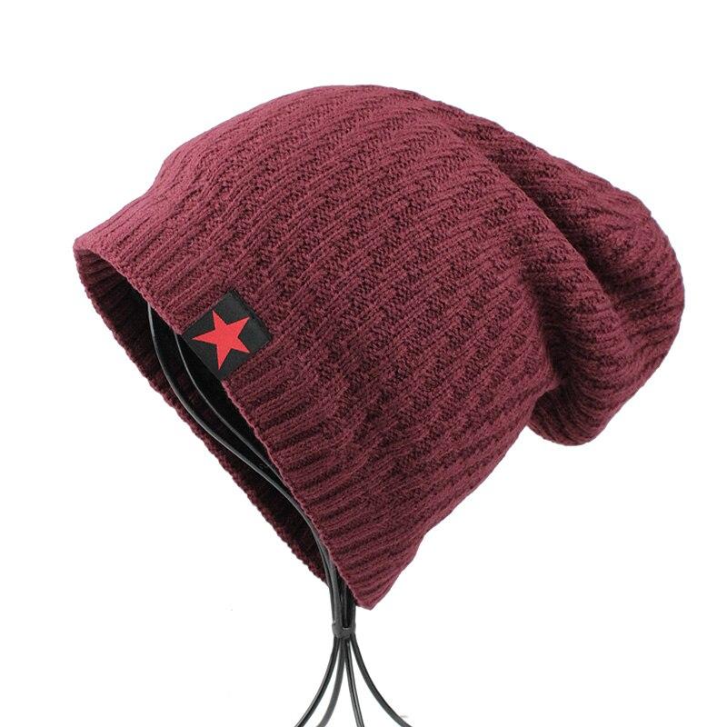 7264913c0b4  FETSBUY  Autumn Winter Bonnet Hat Women Fashion Knitted Skullies Beanie  Cap Men Add Velvet Warm Toucas Inverno Beanies 18007-in Skullies   Beanies  from ...
