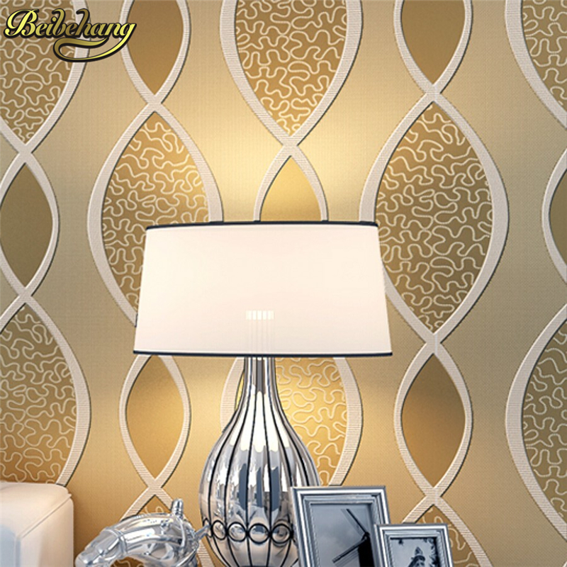 beibehang Fashion wallpaper tv background 3d mural wallpaper roll embossed 3D flock printing wall paper papel de parede listrado цена 2017