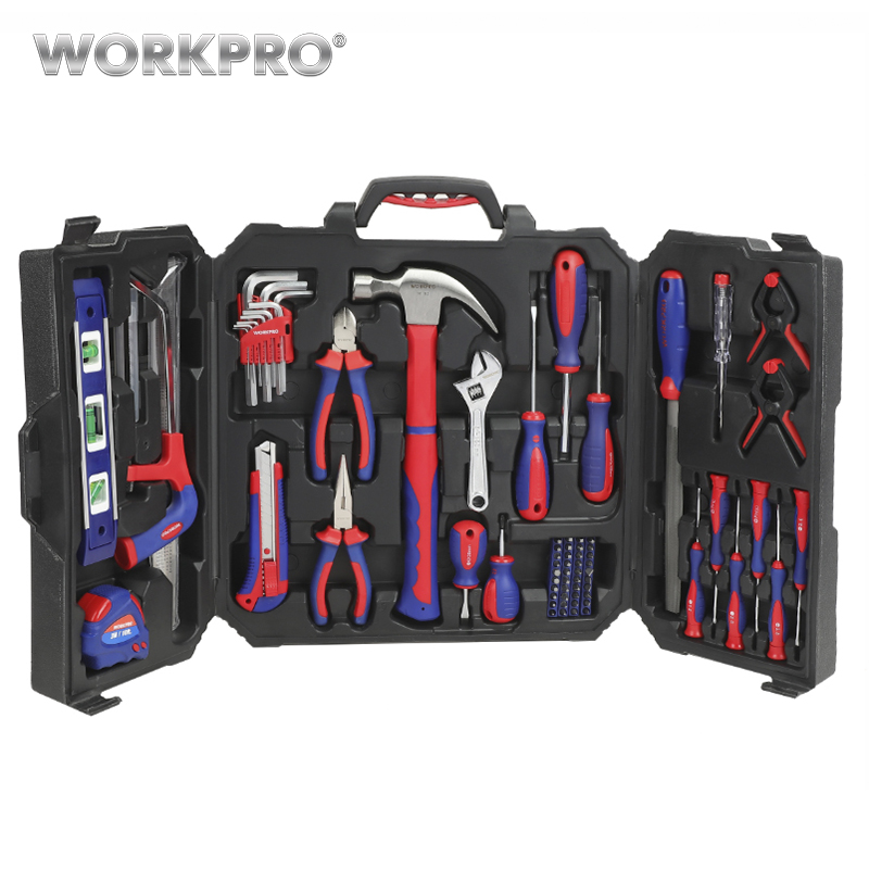 WORKPRO 2019 New 77PC Tool Set for Home Repair Household Tool Kits Screwdrivers Pliers Scissor Knife