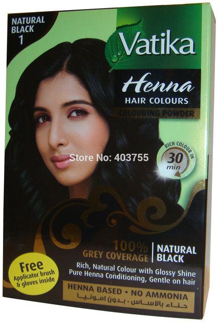 Dabur Vatika Henna Powder Hair Natural Black Indian Henna 60g On