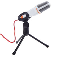 High Quality Wired Condenser Microphone With Holder Clip Studio Microphone Computer For Chatting Singing Karaoke PC