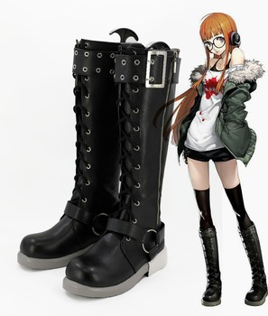 Anime Persona 5 shoes Futaba Sakura Collectible Boots Custom made