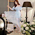 Original 2016 Brand Saia High Quality Summer Plus Size Elegant Fashion Casual Wide Irregular Hem Long Mesh Skirt Women Wholesale