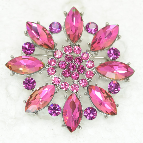 Rhinestone Flower Pin brooches C2071 JN