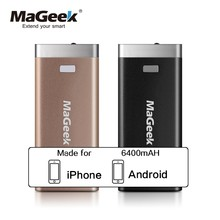 MaGeek Power Bank 6400mAh External Backup Battery Portable Backup Power for iPad iPhone Samsung HTC LG Cell Phones(China)