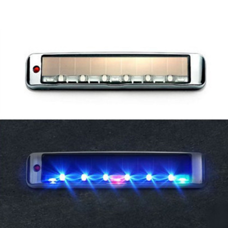 Solar Energy Static Elimination Anti-Collision Light LED Multi-Function Warning Light Static Electricity LED Car Light Accessior