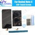 Para xiaomi redmi note 4 lcd display + touch reemplazo de cristal del panel digitalizador pantalla 100% lcd de alta calidad para xiaomi redmi nota4