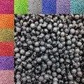 Hot 8 mm 100 unids/lote recién llegado ronda granos de acrílico de los Rhinestones de los encantos del grano pulsera collar DIY