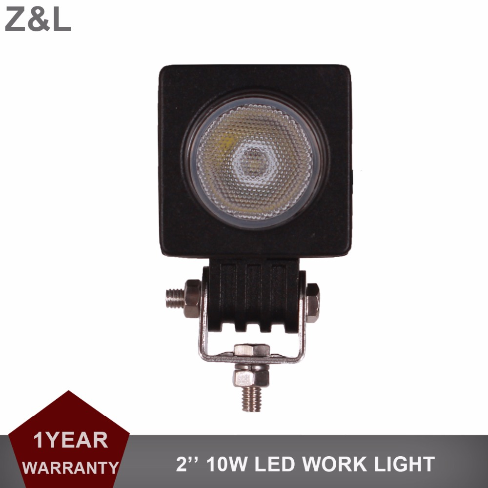 Z&L 10W LED Work Light Car Auto SUV ATV 4WD 4X4 RZR Offroad 12v 24v Driving Fog Lamp Motorcycle Truck Spot Flood Headlight