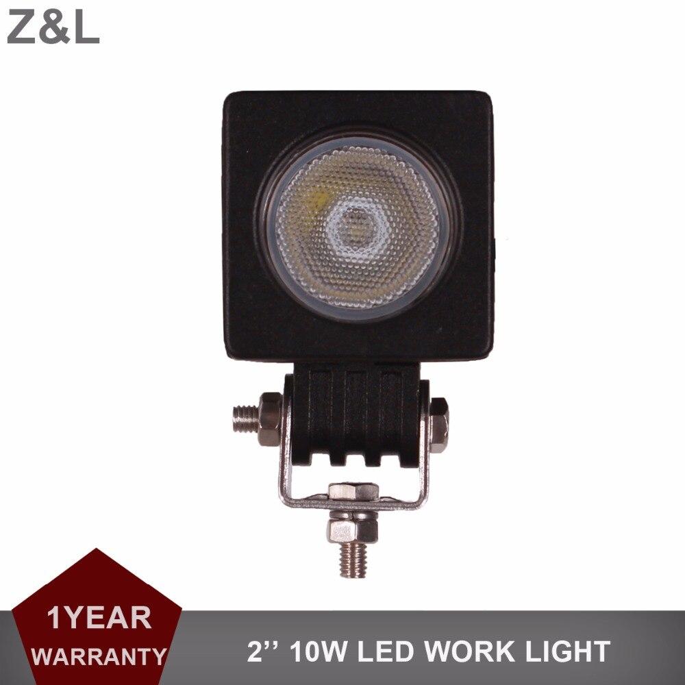 Z&L 10W LED Work Light Car Auto SUV ATV 4WD 4X4 RZR Offroad 12v 24v Driving Fog Lamp Motorcycle Truck AWD Spot Flood Headlight