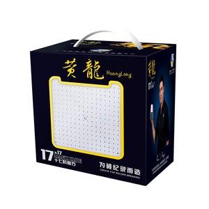 Image 5 - Yuxin Huanglong 17x17x17 큐브 스티커가없는 Zhisheng SpeedCube 퍼즐 트위스트 17x17 Cubo Magico yuxin huanglong 17
