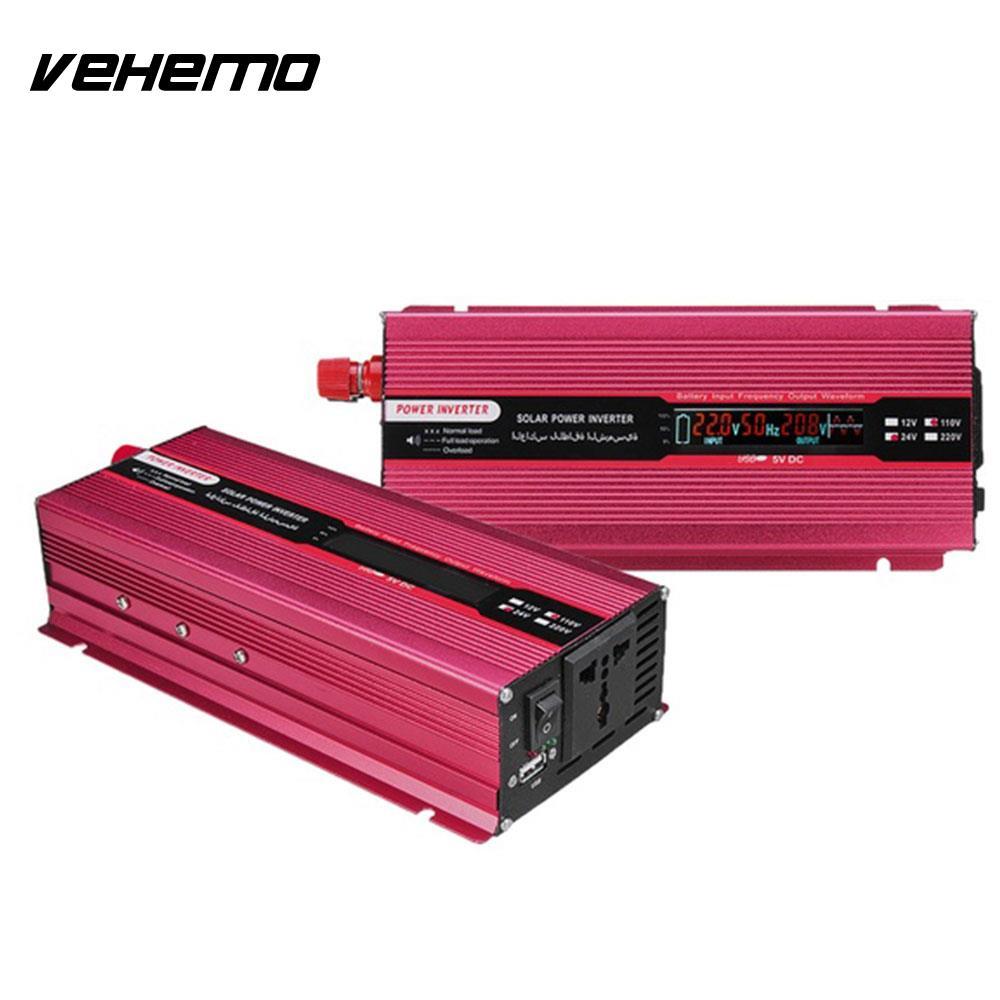 Vehemo DC24V To AC110V Solar Power Inverter Auto Inverter Power Supply Car Inverter Portable High Performance Transformer