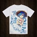 Re: Cero Isekai kara Hajimeru Seikatsu T-shirt de Anime Manga Corta camiseta Transpirable Tees Tops