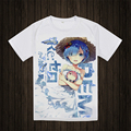 Re: Zero Hajimeru kara Isekai Seikatsu T-shirt Anime camiseta Manga Curta Respirável Tees Tops