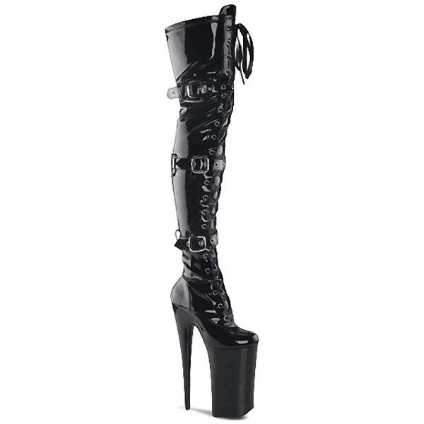 bf12903e55 20cm cross strap over-knee-high belt buckle platform sexy ultrahigh-heeled  boots