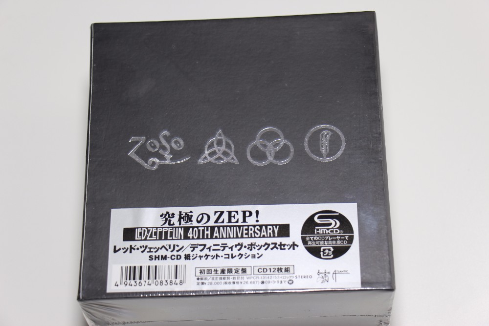 LED ZEPPELIN BOX SET 40TH YEARS ANNIVERSARY 12 CD Japan Edition Chinese Factory New Sealed Version Free shipping cd the doors l awoman 40th anniversary edition