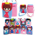 Lindo caliente Mini Messenger Bags Girls Crossbody Shoulder Bag Kids Paquete de Teléfono Celular de Los Niños de Dibujos Animados Ocasional bolsa feminina