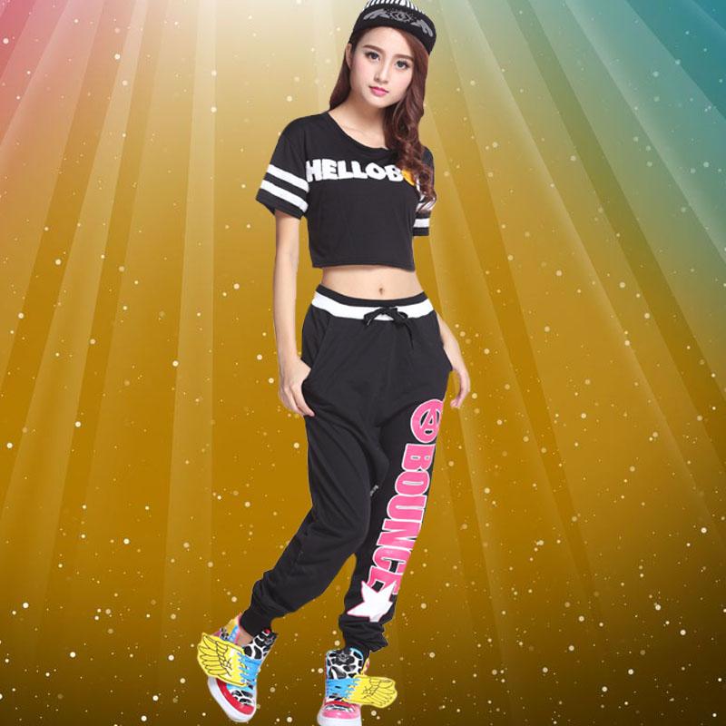 d0349ab321d85 Pantalones sueltos hiphop ropa hip hop jazz dancewear moderno traje ...