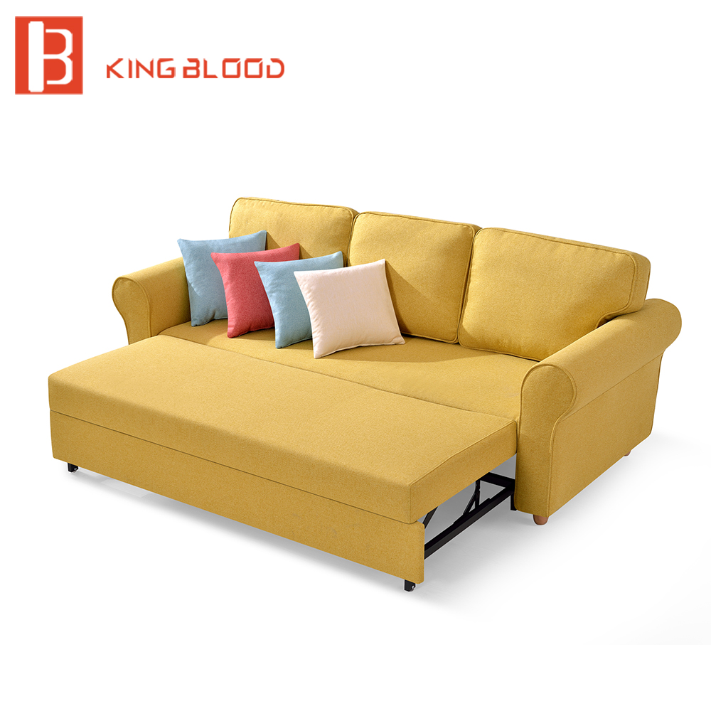 Modern design pull out metal sofa cum bed