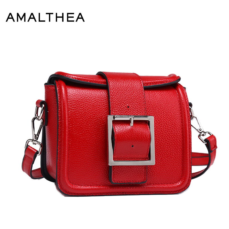 AMALTHEA Genuine Leather Bag Begie Shoulder Bolsos Mujer Designer Crossbody Bags For Women Messenger Bags New Woman Bag AMAG006