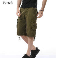 NIBESSER Military Style Short Pants Summer Slolid Multi Pocket Shorts Streetwear Fitness Underwear Casual Short