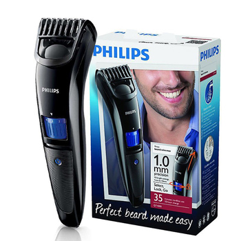 Philips beardtrimmer QT4000 multi-function trimmer razor accurate length set 1-10mm adjustable length curved combs black