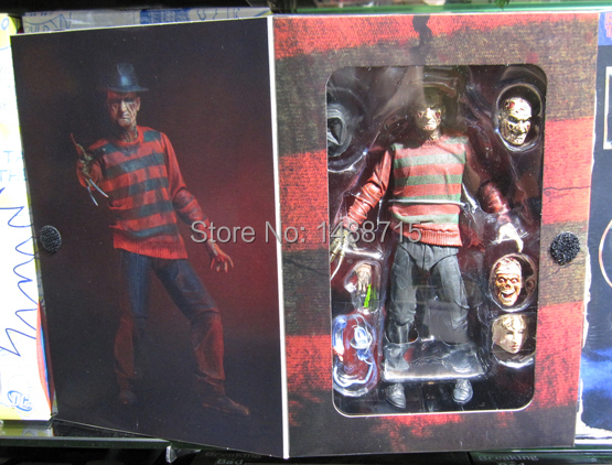 Hot <font><b>Freddy</b></font> Classic Horror Film <font><b>Nightmare</b></font> <font><b>on</b></font> <font><b>Elm</b></font> <font><b>Street</b></font> 30th Anniversary Ultimate NECA 18CM Action <font><b>Figure</b></font> New Box