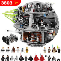 3803 шт. Star UCS Звезда смерти комплект войны, совместимые LegoINGLYS StarWars блоки для малышей Clever строительных блоков игрушки для детей