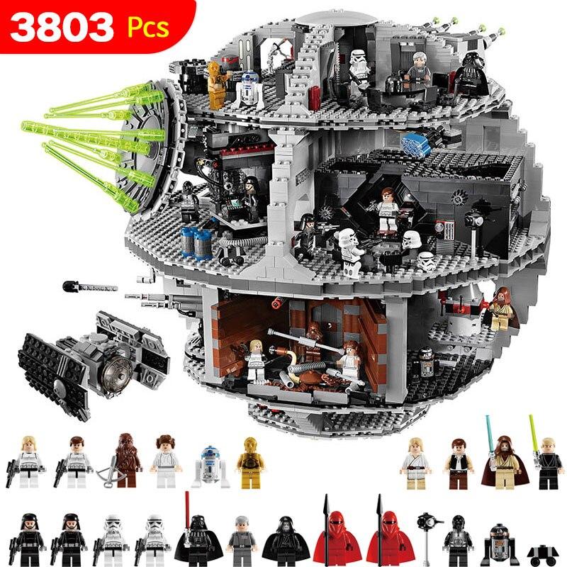 3803 piezas unids Star UCS Death Star Set Wars Compatible LegoINGLYS StarWars bloques para niños bloques inteligentes juguetes de construcción para niños