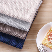 Cotton Napkin PlacematDyed Dish Towel With Hand made Tassel Napkin Tea Towel Dishtowel Kitchen Towel Cleaning Cloth