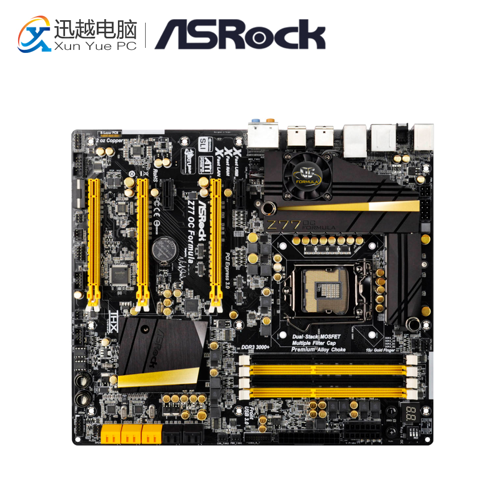 Asrock Z77 OC Formula Desktop Motherboard Z77 Socket LGA 1155 i3 i5 i7 DDR3 32G USB3.0 E-ATX gigabyte ga z77 ds3h desktop motherboard z77 ds3h z77 lga 1155 i3 i5 i7 ddr3 32g sata3 atx