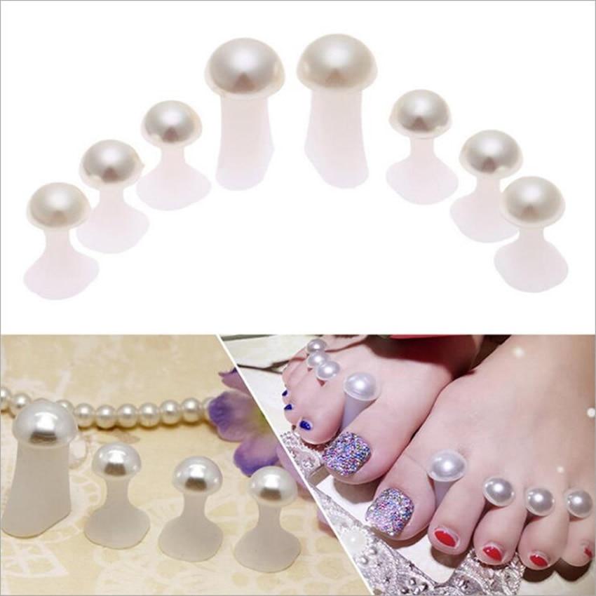 Health Beauty Nail Toe Art: Manicure Tools Toe Nail Separator Foot Silicone Toe