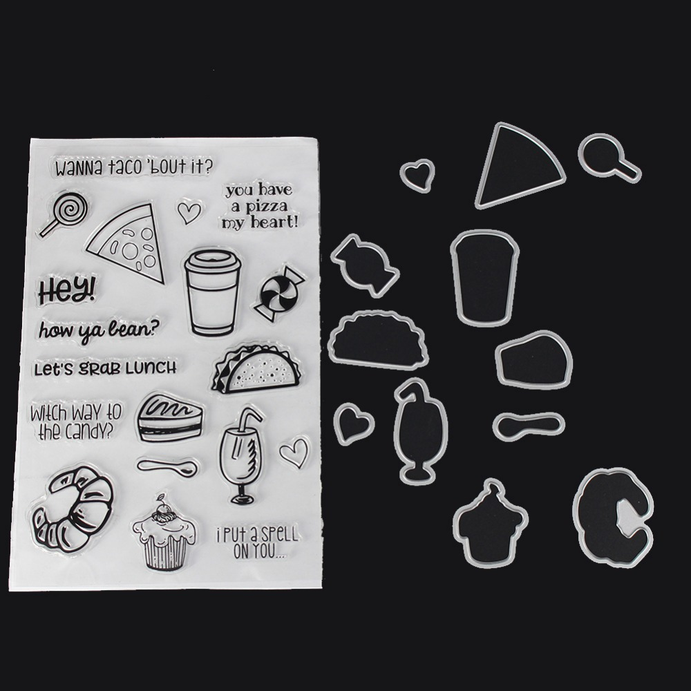 Transparent Clear Silicone Stamp Lace Edge DIY Cutting Dies Scrapbooking Cuts
