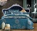 Tejido Jacquard de algodón satén de algodón tela Palacio artículo Bordado de Cuatro piezas juego de Cama de algodón Puro de cama de la boda