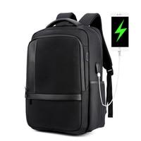 Casual Backpacks Men 15.6 inch Laptop Backpack Male USB Backpack Nylon Waterproof Oxford Black School Bag For Teenager Mochila