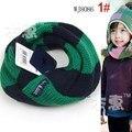 2014 Novo inverno lenço feito malha rosto sorridente menino das Crianças Coreanas meninas gola de idade para 2-7 anos de idade