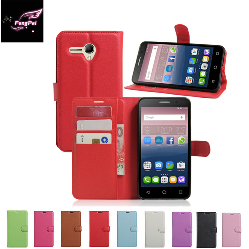 Hot Selling Wallet Style PU Leather Cas For Alcatel One Touch Pop 3 5.5inch 5025D 5025 with Stand Function and Card Holde