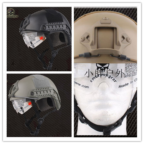 NEW Emerson FAST Helmet with Protective Goggle Military Type helmet Military airsoft helmet 8820 BLACK DE